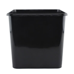 "10"" x10"" Square Cooler Bucket, Black,  Pack Size: 12"