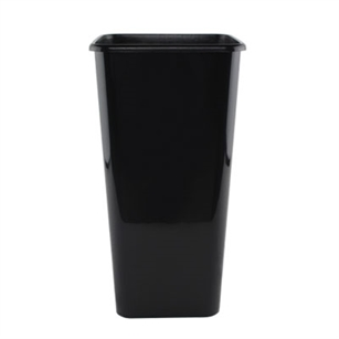 "6 1/2"" x 13"" Sq. Cooler Bucket, Black,  Pack Size: 12"