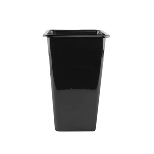 "11 1/2"" x 20"" Sq Cooler Bucket, Black,  Pack Size: 12"