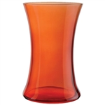 "8"" Gathering Vase, Translucent Orange,  Pack Size: 6"