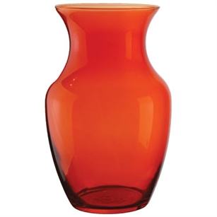 "8"" Rose Vase, Translucent Orange,  Pack Size: 6"