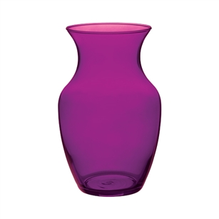 "8"" Rose Vase, Purple Passion,  Pack Size: 6"