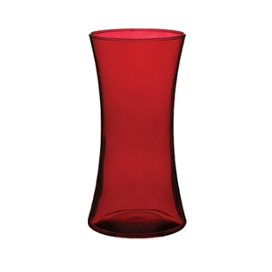 "8"" Gathering Vase, Ruby,  Pack Size: 6"