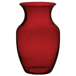 "8"" Rose Vase, Ruby,  Pack Size: 6"