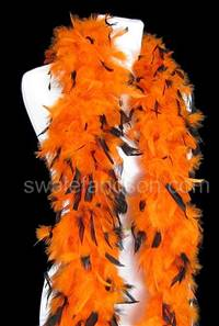 Chandelle Boas - 50 Gram - Orange w/Black Tips