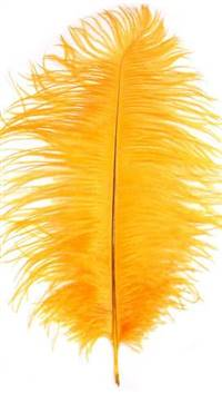 "Ostrich Drabs 9-13"" Dyed Gold - Per 1/2 lb"