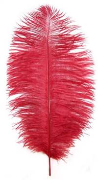 "Ostrich Drabs 9-13"" Dyed Red - Per 1/2 lb"