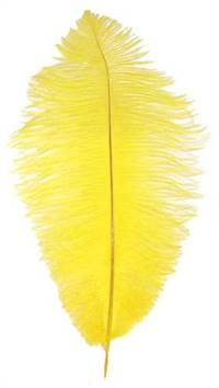 "Ostrich Drabs 9-13"" Dyed Yellow - Per 1/2 lb"