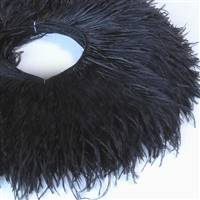 "Ostrich Feather Fringe 4-5"" - Black - 2 Yards"