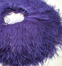 "Ostrich Feather Fringe 4-5"" Purple - 2 Yards"