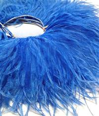"Ostrich Feather Fringe 4-5"" Royal Blue - 2 Yards"