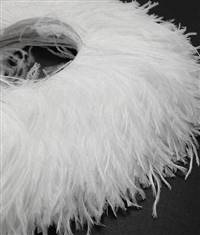 "Ostrich Feather Fringe 4-5"" Snow White - 2 Yards"
