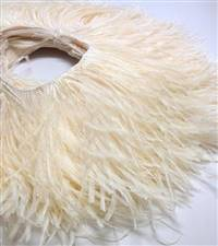 "Ostrich Feather Fringe 5-6"" - Ivory - 2 Yards"