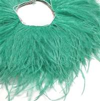 "Ostrich Feather Fringe 5-6"" Jade - 2 Yards"