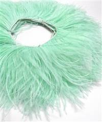 "Ostrich Feather Fringe 5-6"" Mint - 2 Yards"