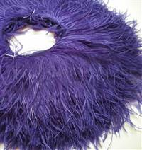 "Ostrich Feather Fringe 5-6"" Purple - 2 Yards"