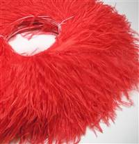"Ostrich Feather Fringe 5-6"" Red - 2 Yards"