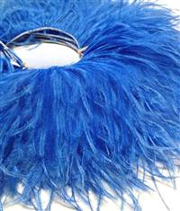 "Ostrich Feather Fringe 5-6"" Royal Blue - 2 Yards"