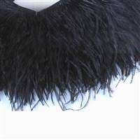 "Ostrich Feather Fringe 6-7"" Black - 2 Yards"