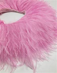 "Ostrich Feather Fringe 6-7"" Candy Pink - 2 Yards"