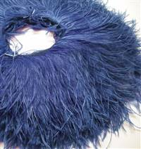"Ostrich Feather Fringe 6-7"" Purple - 2 Yards"