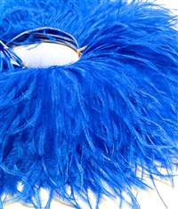 "Ostrich Feather Fringe 6-7"" Royal Blue - 2 Yards"