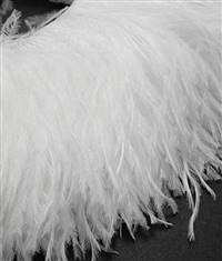 "Ostrich Feather Fringe 6-7"" Snow White - 2 Yards"