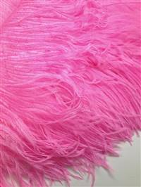 "Ostrich Wing Plumes #1 - 18-24"" Dyed Candy Pink - Per 1/4 lb"