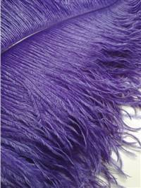"Ostrich Wing Plumes #1 - 17-22"" Dyed Purple - Per 1/4 lb"