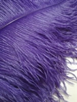EXTRA LARGE, Ostrich Wing Plumes 25''-29'', Purple (1/2 Pound)