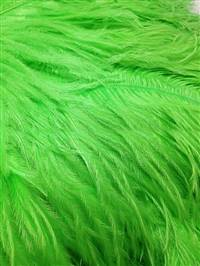 "Ostrich Wing Plumes #2 - 25-29"" Dyed Lime Green  - Per 1/4 lb"