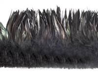 "Strung Rooster Saddles 5-7"" Dyed Black - Per 1/2 lb"