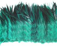 "Strung Rooster Saddles 6-7"" Dyed Green Teal - Per 1/2 lb"