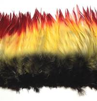 "Strung Rooster Saddles 6-7"" Dyed Indian Crow - Per 1/2 lb"