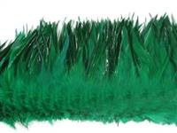 "Strung Rooster Saddles 6-7"" Dyed Kelly Green - Per 1/2 lb"