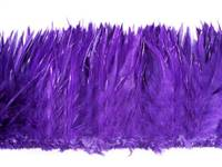 "Strung Rooster Saddles 5-7"" Dyed Purple - Per 1/2 lb"