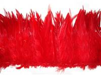 "Strung Rooster Saddles 5-7"" Dyed Red - Per 1/2 lb"