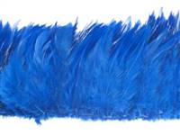 "Strung Rooster Saddles 5-7"" Dyed Royal Blue - Per 1/2 lb"