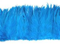 "Strung Rooster Saddles 6-7"" Dyed Turquoise - Per 1/2 lb"