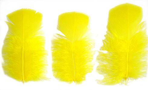 "Loose Turkey T-Base 3-5"" Dyed Yellow - Per lb"