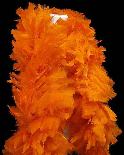 Turkey Flat Boas - 150 Gram - Orange
