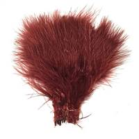 "Strung Turkey Marabou 4-5"" Dyed Burnt Sienna - Per 1/2 lb"
