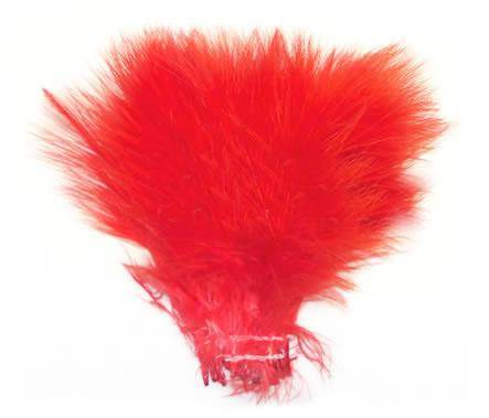 "Strung Turkey Marabou 4-5"" Dyed Red - Per 1/2 lb"