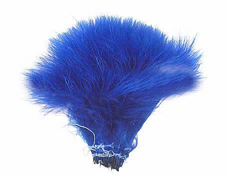 "Strung Turkey Marabou 4-5"" Dyed Royal Blue - Per 1/2 lb"