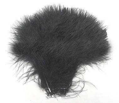 "Strung Turkey Marabou 6-7"" Dyed Black - Per 1/2 lb"