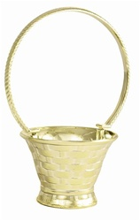 Handled Basket - Gold