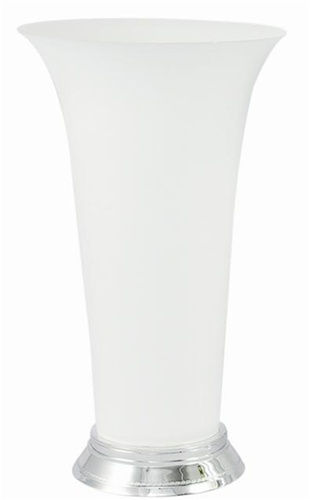 Plastic Trumpet Vase White