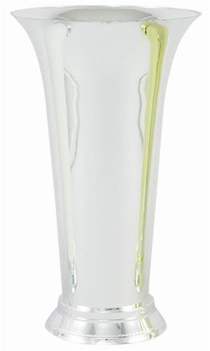Plastic Trumpet Vase Silver