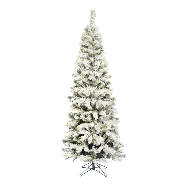 "8.5' x 40"" Flocked Pacific Tree 606T"