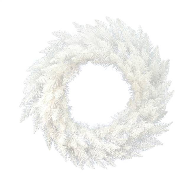 "36"" Sparkle White Spruce Wreath 195Tips"
